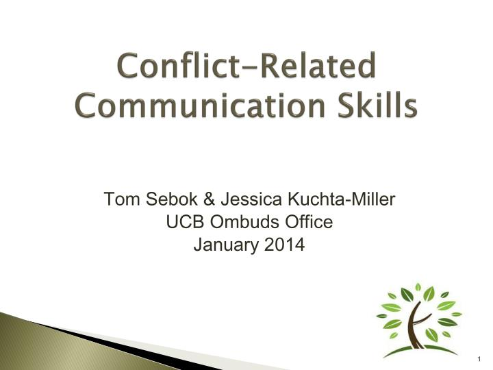Conflict related communication skills