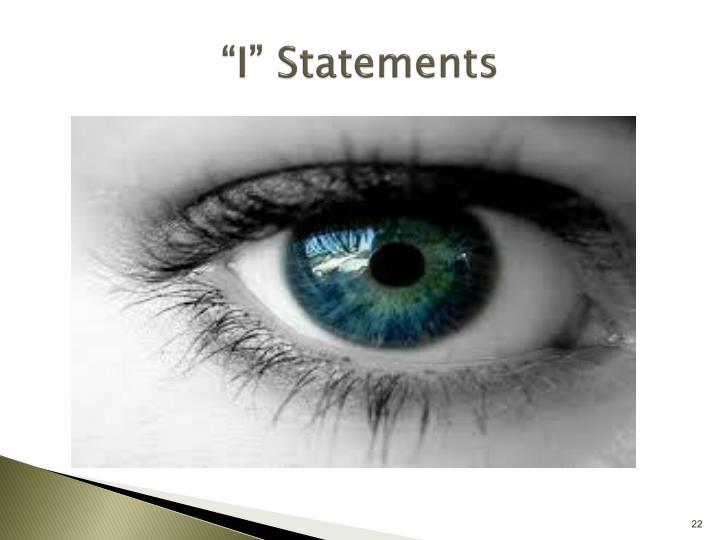 """I"" Statements"