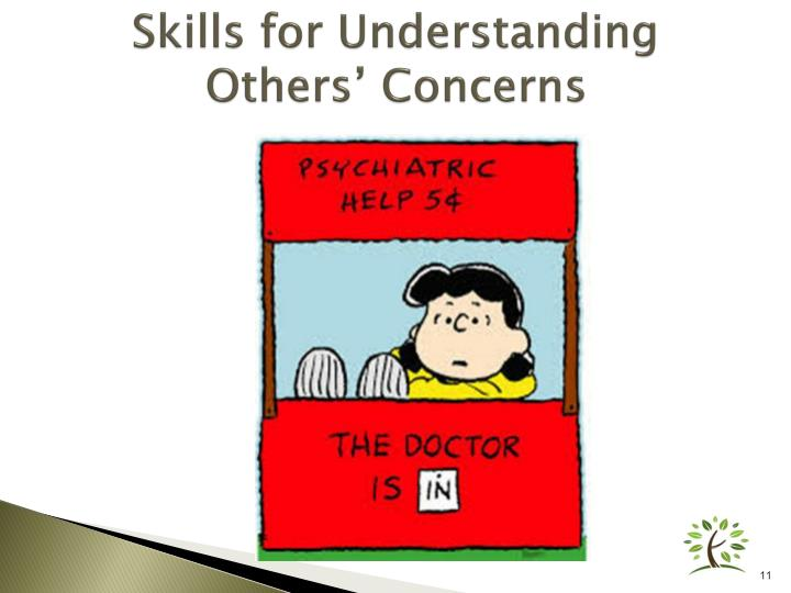 Skills for Understanding