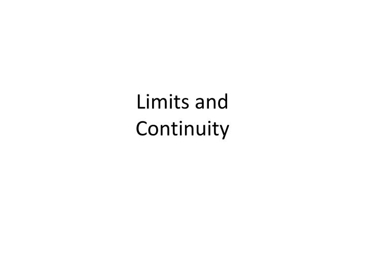 limits and continuity n.