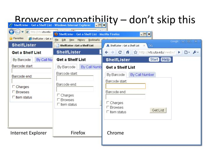 Browser compatibility – don't skip this