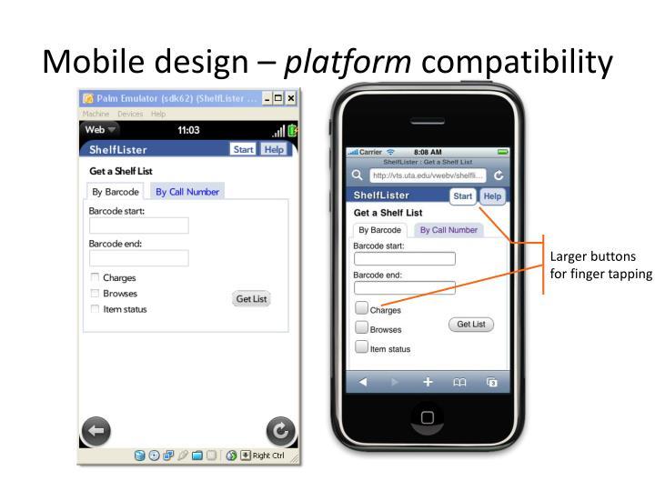 Mobile design –