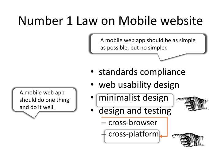 Number 1 law on mobile website