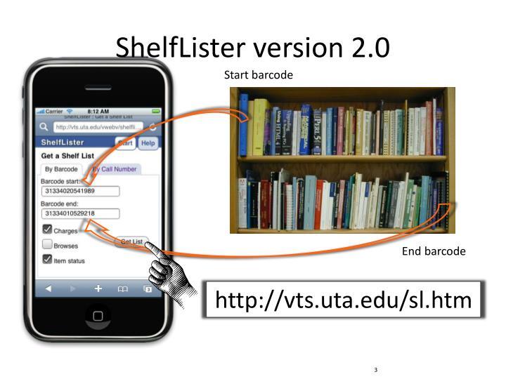 ShelfLister version 2.0