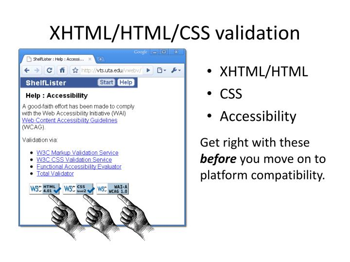 XHTML/HTML/CSS validation