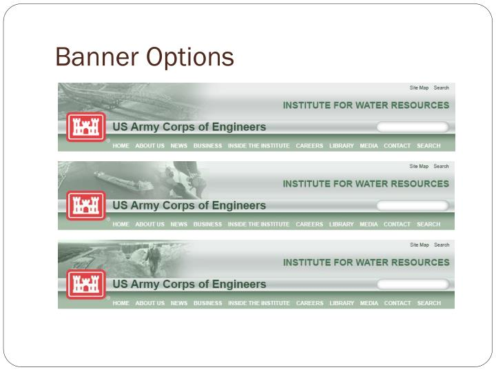 Banner Options