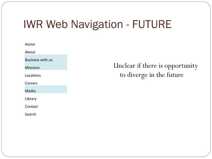 IWR Web Navigation - FUTURE