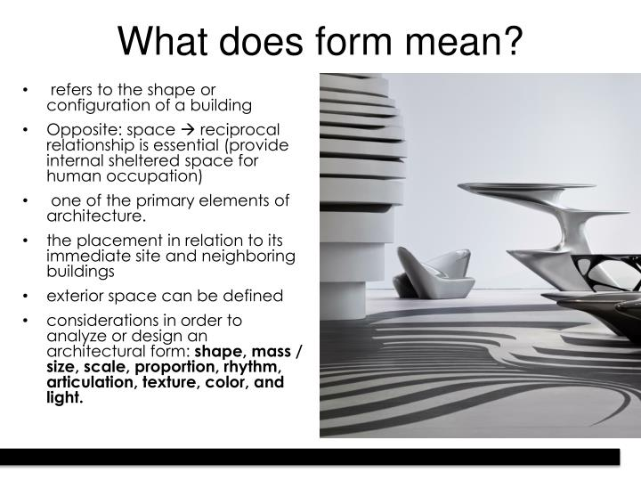What does form mean?