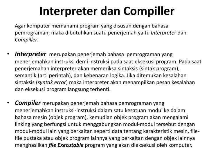 Interpreter dan Compiller
