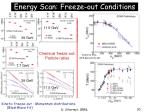energy scan freeze out conditions