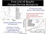 first lhc hi results charged particle multiplicity