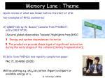 memory lane theme