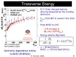 transverse energy