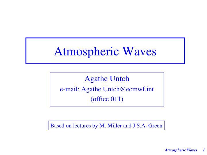 atmospheric waves n.