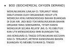 bod biochemical oxygen demand