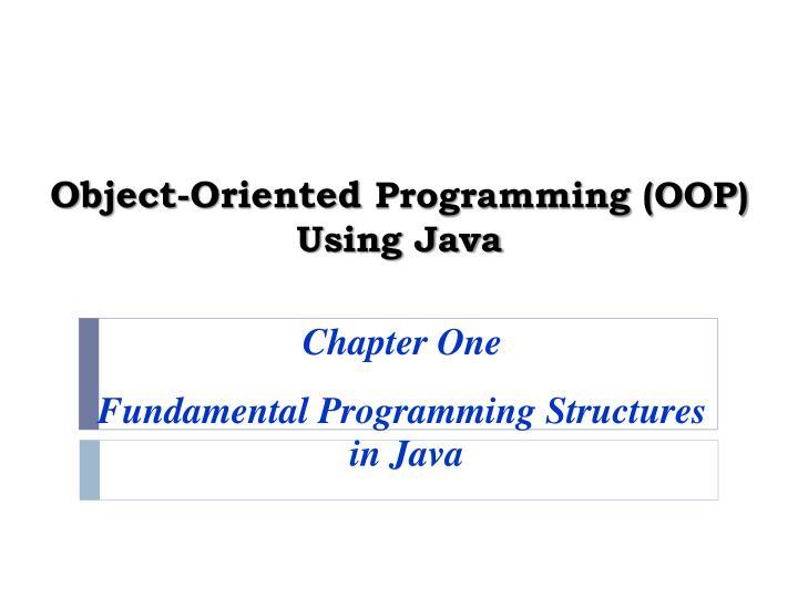 object oriented programming oop using java n.