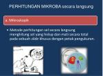perhitungan mikroba secara langsung