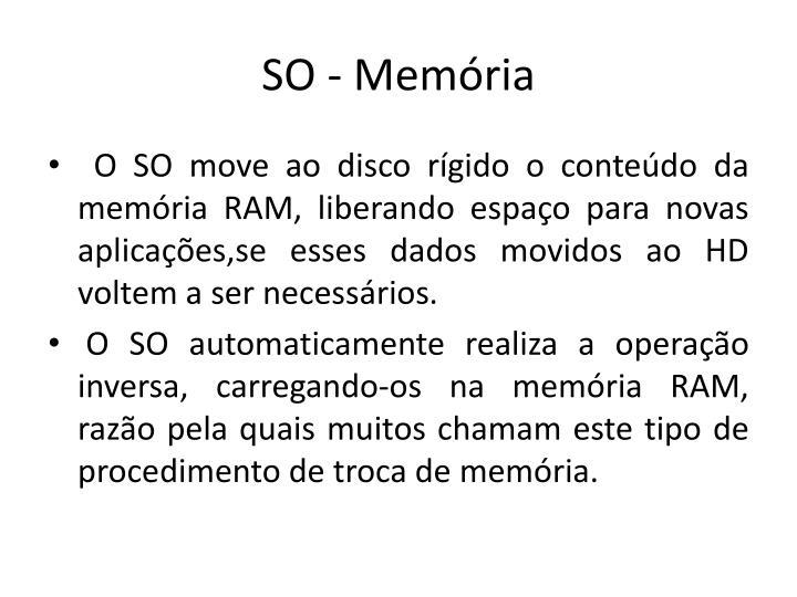 SO - Memória