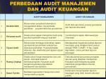 perbedaan audit manajemen dan audit keuangan