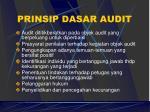 prinsip dasar audit