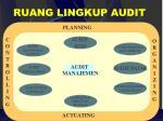 ruang lingkup audit