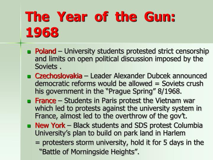 The  Year  of  the  Gun: 1968