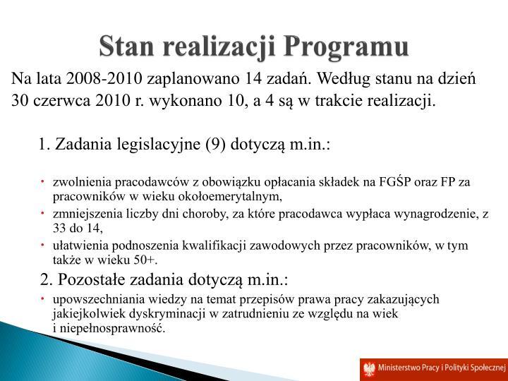 Stan realizacji Programu