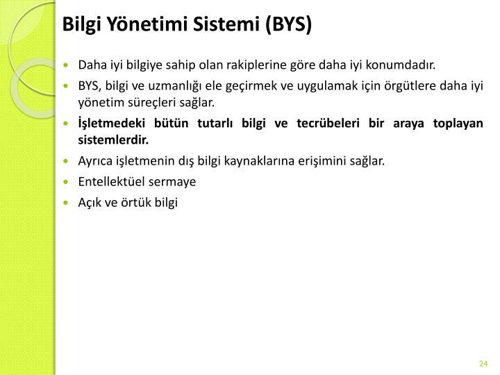 Bilgi Yönetimi Sistemi (BYS)