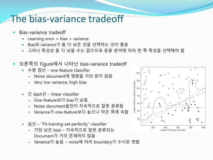 The bias-variance tradeoff