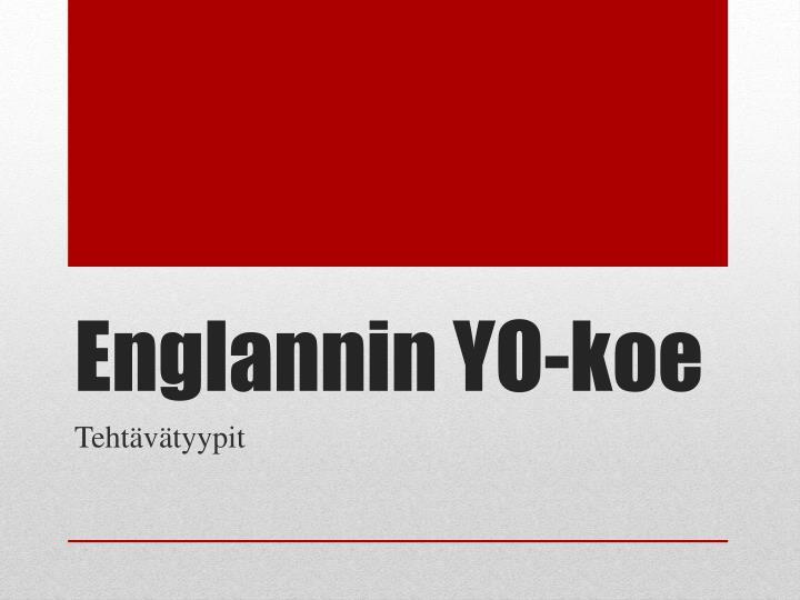 Englannin Yo Koe