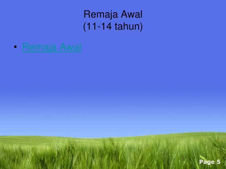Remaja Awal