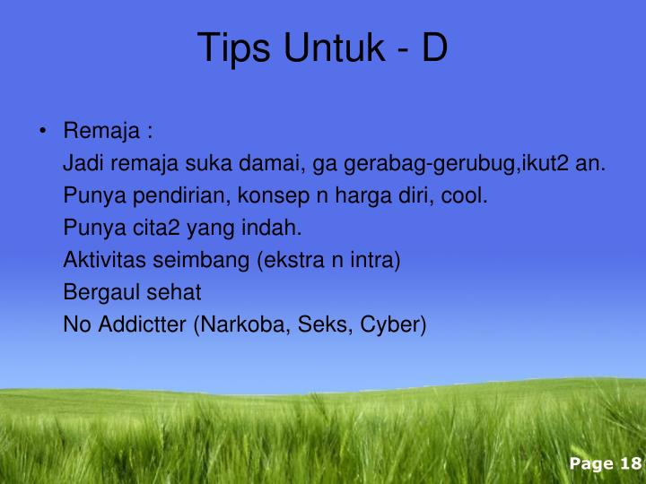 Tips Untuk - D
