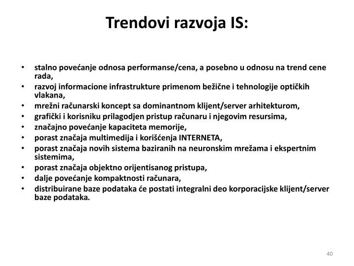 Trendovi razvoja IS:
