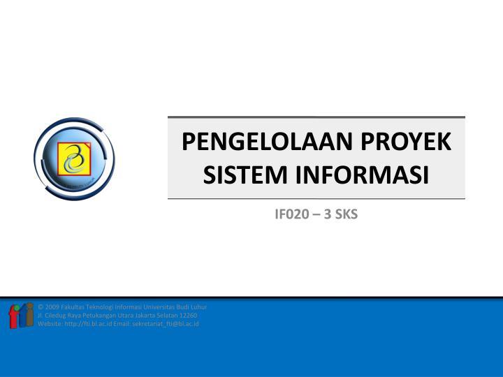 pengelolaa n proyek sistem informasi n.