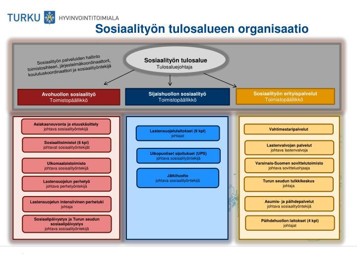 Sosiaality n tulosalueen organisaatio