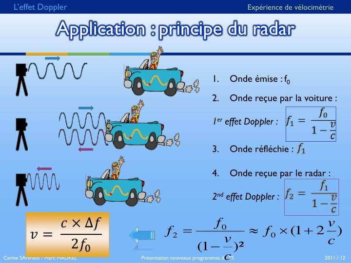 Application principe du radar