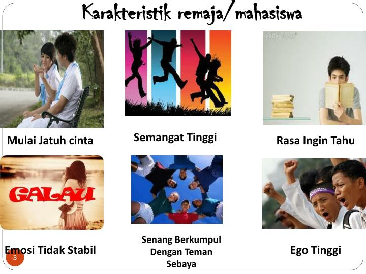 Karakteristik remaja mahasiswa