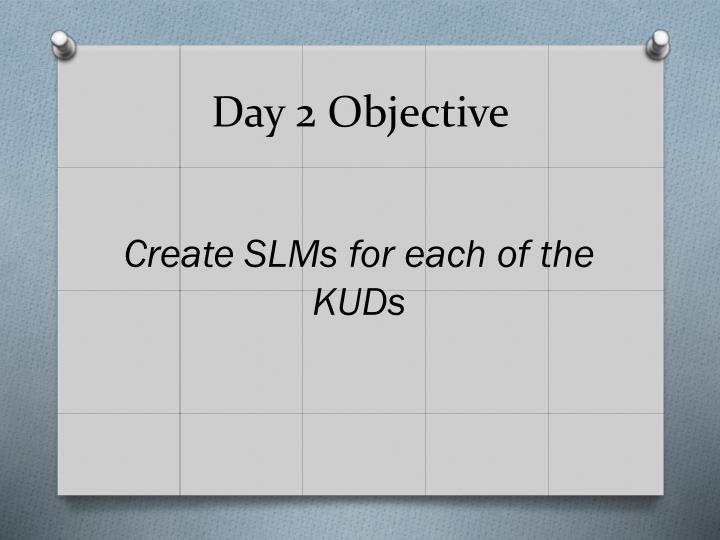 Day 2 Objective