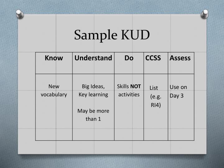 Sample KUD