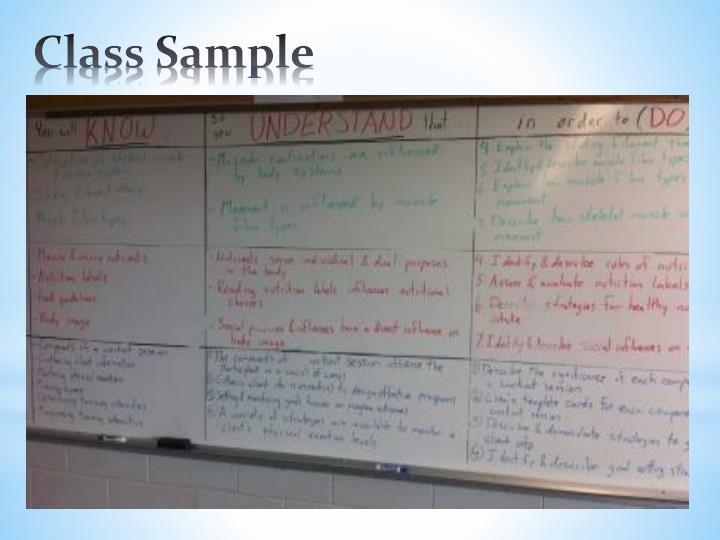 Class Sample