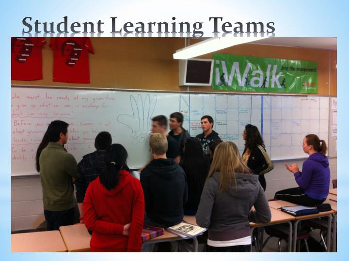 Small groups of students who help each other in their learning journey