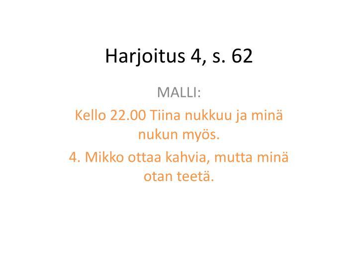 Harjoitus 4 s 622