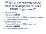 which of the following would most encourage you to utilize ebdm in your work