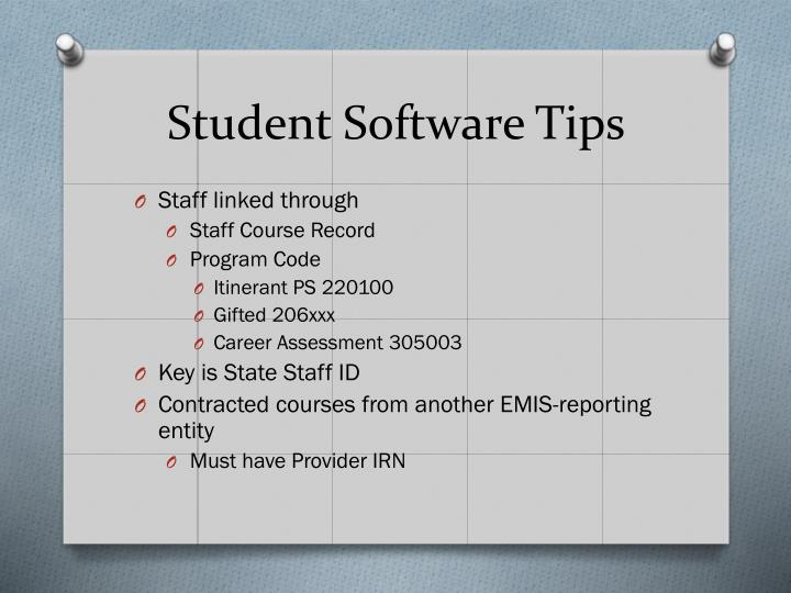 Student Software Tips