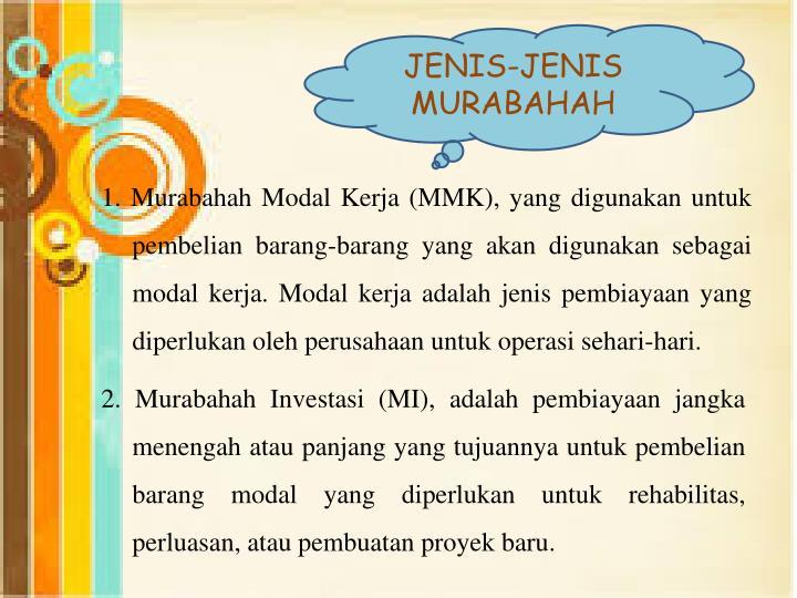 JENIS-JENIS MURABAHAH