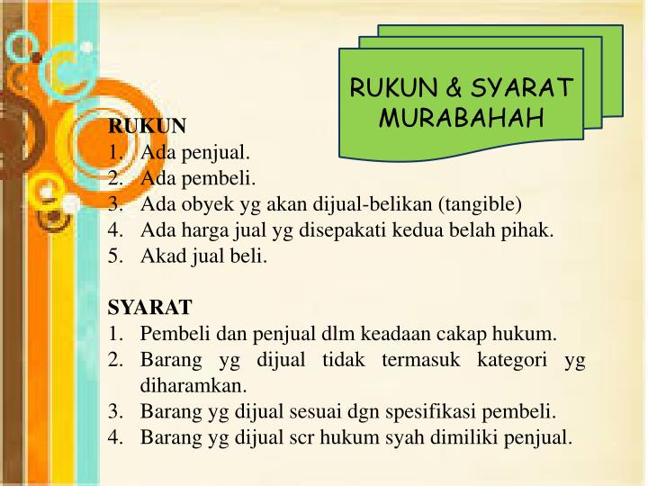 RUKUN & SYARAT MURABAHAH