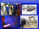 largest dipole magnet 850 ton 9 7 4 5 and particle detectors
