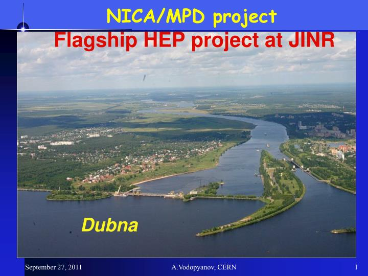 nica mpd project flagship hep project at jinr n.