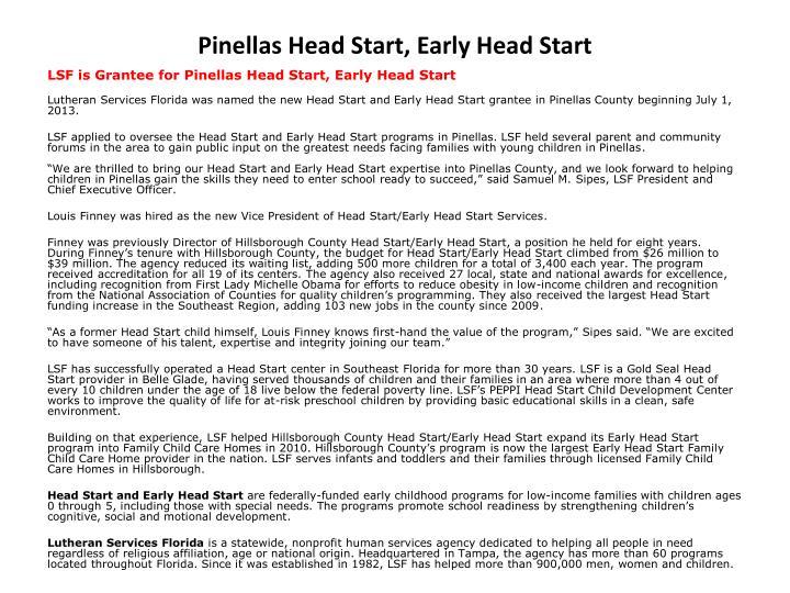 pinellas head start early head start n.