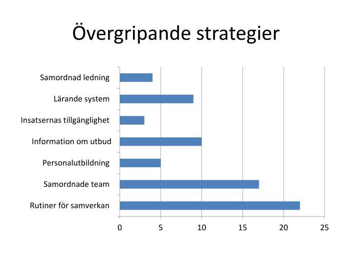 Övergripande strategier